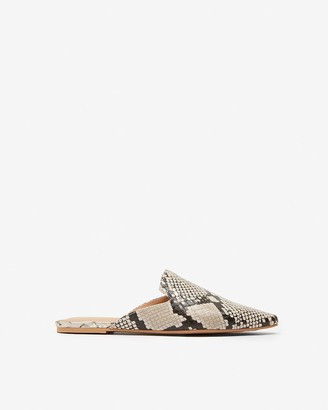 Express Textured Pointed Toe Mules