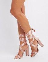 Charlotte Russe Satin Wrap Dress Sandals
