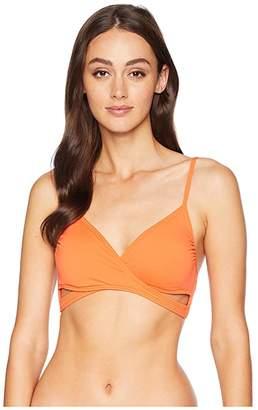 Vince Camuto Shore Shades Wrap Bikini Top w/ Removable Soft Cups
