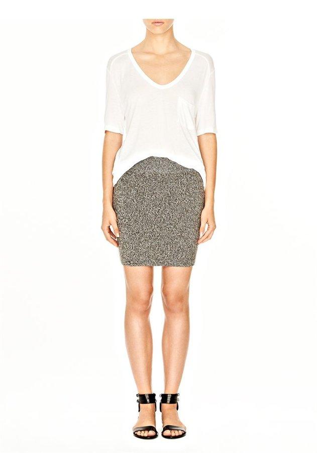 Alexander Wang Wool Acrylic Marled Knit Skirt