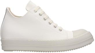 Drkshdw Low Sneaks Sneakers In White Canvas