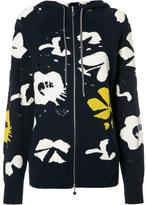 Barrie Moon Flower zipped hoodie
