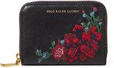 Polo Ralph Lauren Ralph Lauren Embroidered Leather Zip Wallet