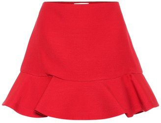 Valentino Wool and silk crApe miniskirt