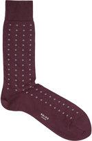 Reiss Reiss Piner - Geometric Print Socks In Red