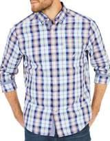 Nautica Classic-Fit Depths Plaid Cotton Button-Down Shirt
