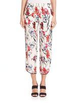 Thakoon Cropped Floral-Print Pants