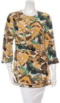 Tory Burch Butterfly Print Silk Top