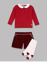 Autograph 3 Piece Jumper & Shorts Outfit with Tights
