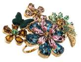 Dolce & Gabbana Crystal Floral & Insect Double Ring