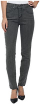 Miraclebody Jeans Rikki Crackle Skinny Jeans in Grey