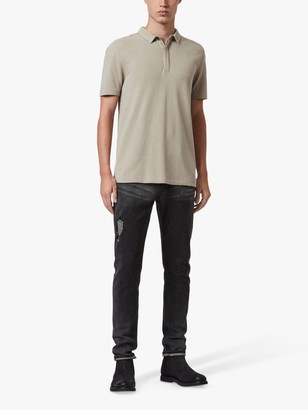 AllSaints Hemp Polo Shirt