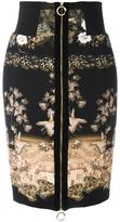 Class Roberto Cavalli printed pencil skirt