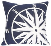 "Liora Manné Compass Throw Indoor/Outdoor Pillow Marine Blue (20""x20"")"