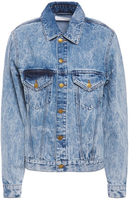 Victoria Victoria Beckham Marbled Denim Jacket
