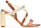 Christian Dior beaded strap sandals