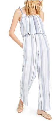 INC International Concepts Inc Striped Smocked Jumpsuit