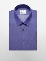 Calvin Klein Steel Slim Fit Non-Iron Herringbone Dress Shirt