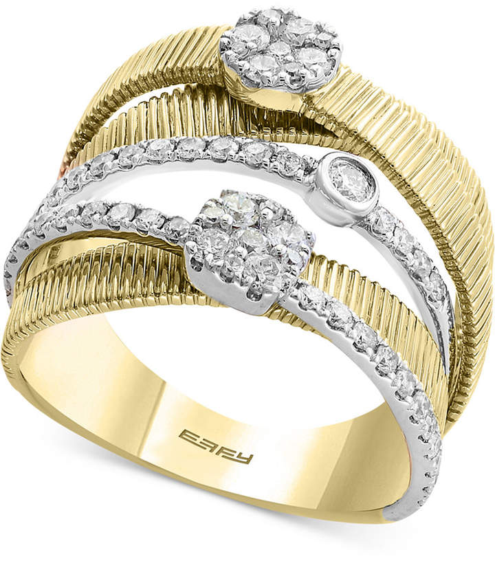 Effy Duo by Diamond Multi-Band Ring (3/4 ct. t.w.) in 14k Gold & White Gold