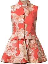 Tome floral jacquard jacket - women - Nylon - XS