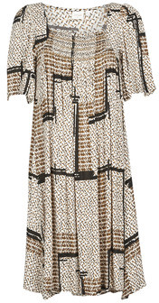 Cream MAGNOLIA women's Dress in Beige