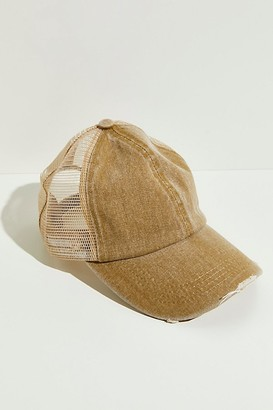 Free People Saltwater Washed Baseball Hat
