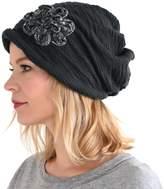 Charm Casualbox Womens Slouchy Beret Cap Beanie All Season Slouch Baggy Flower Hat