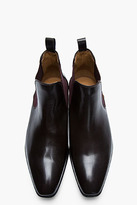 Paul Smith Dark brown leather Falconer boot