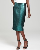 Pencil Skirt - Lurex Jacquard