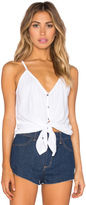 Chaser Shirred Button Down Cami