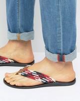 Tommy Hilfiger Torence Woven Flip Flops