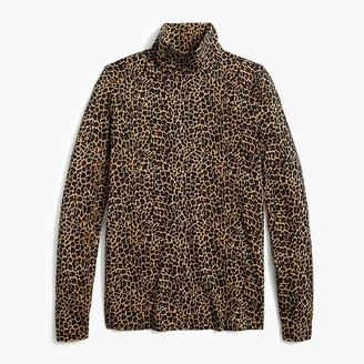 J.Crew Printed tissue turtleneck