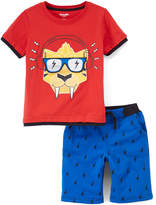 Orange Saber Tooth Tee & Blue Shorts - Infant & Toddler