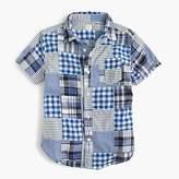 J.Crew Kids' short-sleeve shirt in patchwork plaid