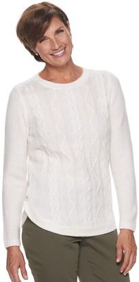 Croft & Barrow Women's Button Side Cable Shirt