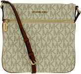 Michael Kors Women's Bedford Flat Signature Crossbody Synthetic Cross-Body Tote