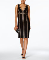 Jax Crochet-Stripe Sheath Dress