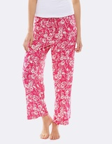 Deshabille Tulip Crop Pant In Bag Pink/White