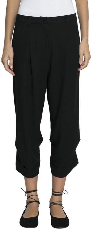 Ann Demeulemeester Viscose And Wool Cropped Pants