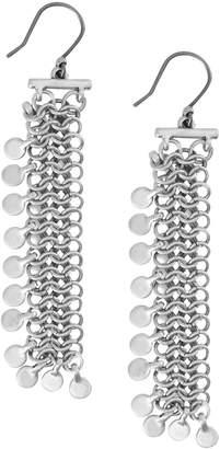 Lucky Brand Point Break Silvertone Statement Earrings