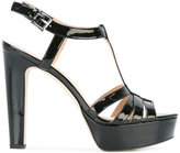MICHAEL Michael Kors 'Catalina' platform sandals - women - Leather/Patent Leather - 7.5