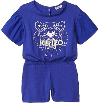 Kenzo Kids Tiger Romper (Little Kids) (Cobalt) Girl's Jumpsuit & Rompers One Piece