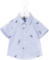 Armani Junior short sleeved shirt - kids - Cotton - 6 mth