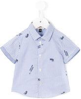 Armani Junior short sleeved shirt - kids - Cotton - 6 mth
