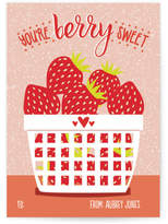 Minted Strawvery Sweet Classroom Valentine's Day Cards