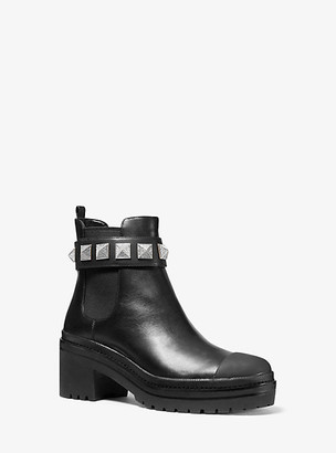 Michael Kors Glenn Studded Leather Boot