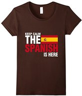 Special Tee Women's Keep Calm The Spanish Is Here T-Shirt Medium