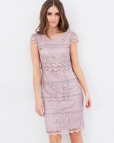 Review Santana Cap Sleeves Lace Dress