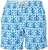 MC2 Saint Barth anchor printed swim shorts - men - Polyamide/Polyester/Spandex/Elastane - L
