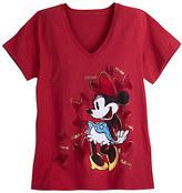 Disney Minnie Mouse V-Neck Tee for Women - Plus Size